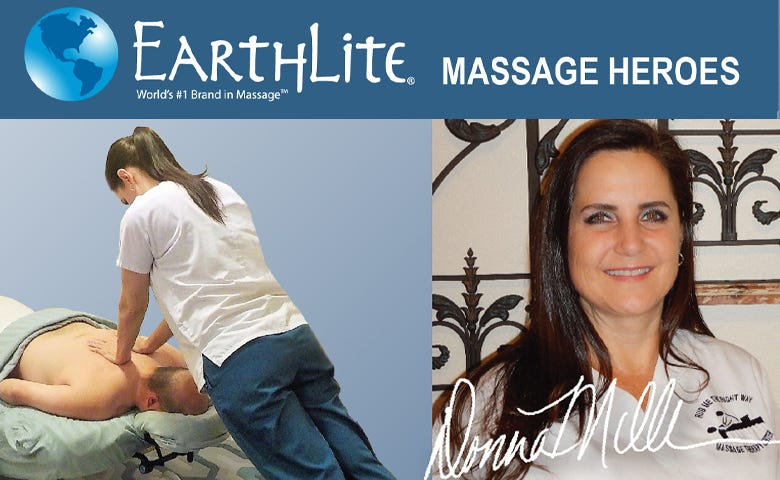 Earthlite® Massage Heroes - Donna & the Ellora Lift Stationary table