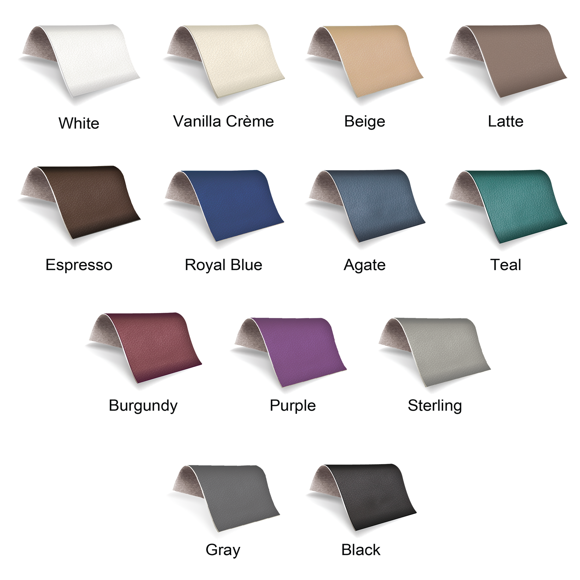 Earthlite Upholstery Colors