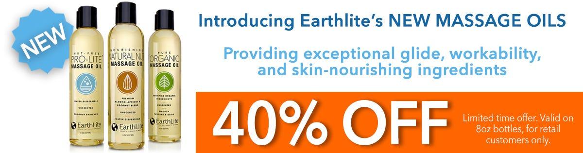 40% OFF on Earthlite Massage Oils - 8oz